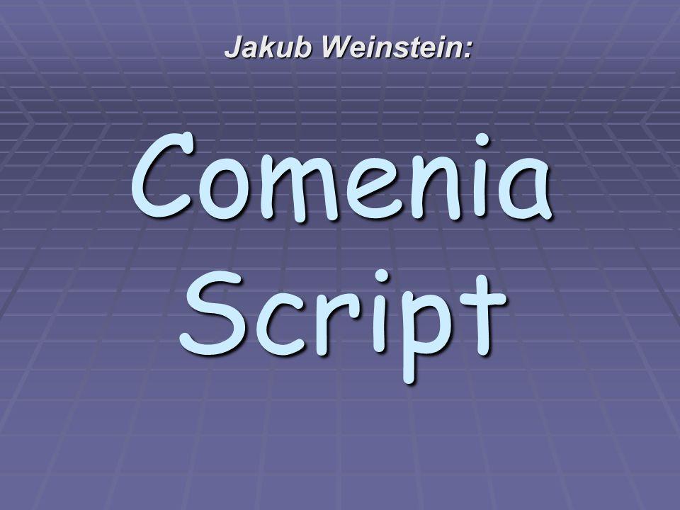 Jakub Weinstein: Comenia Script