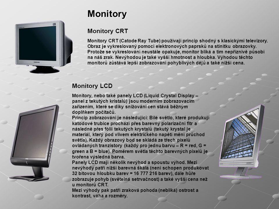 Monitory Monitory CRT Monitory LCD