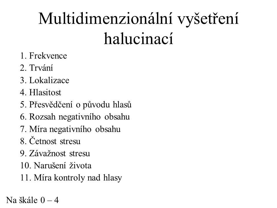 Multidimenzionální vyšetření halucinací