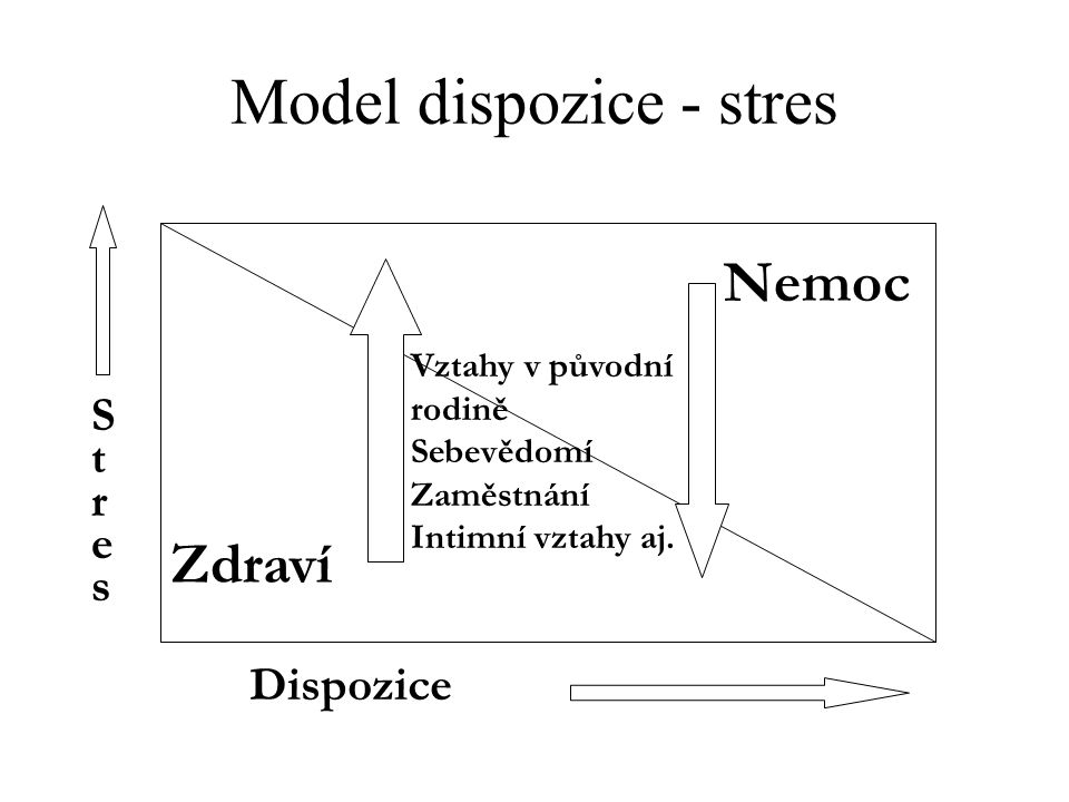 Model dispozice - stres