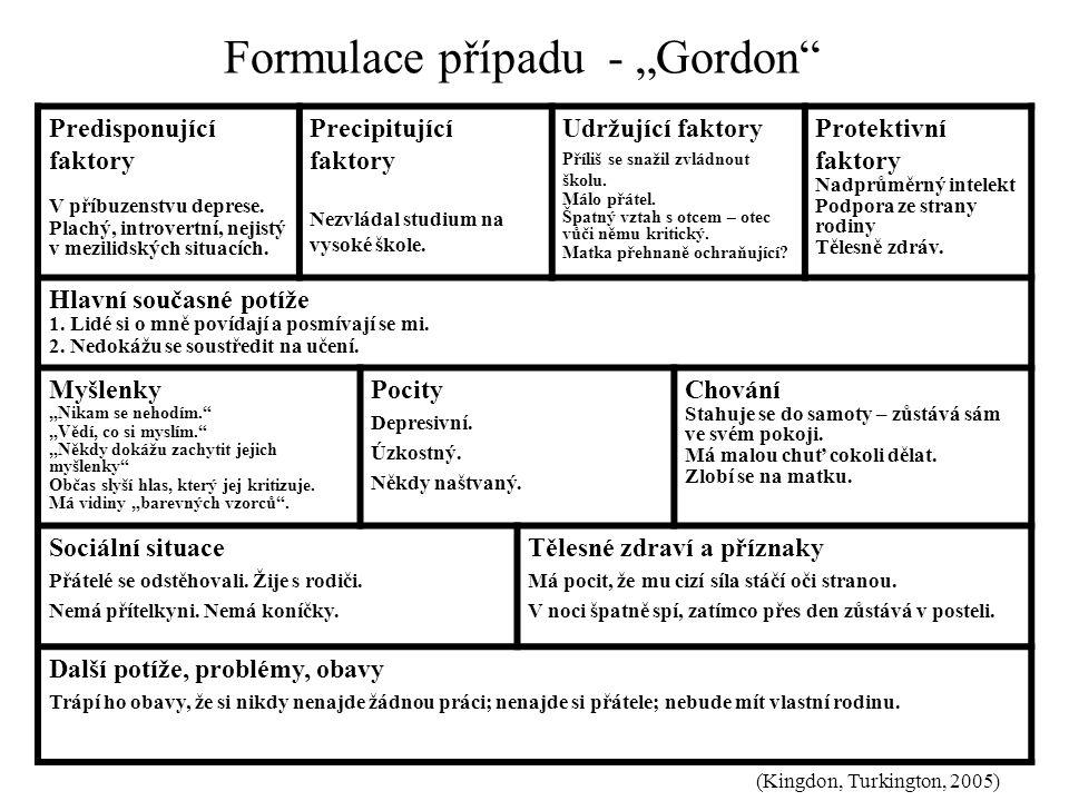 """Formulace případu - """"Gordon"""