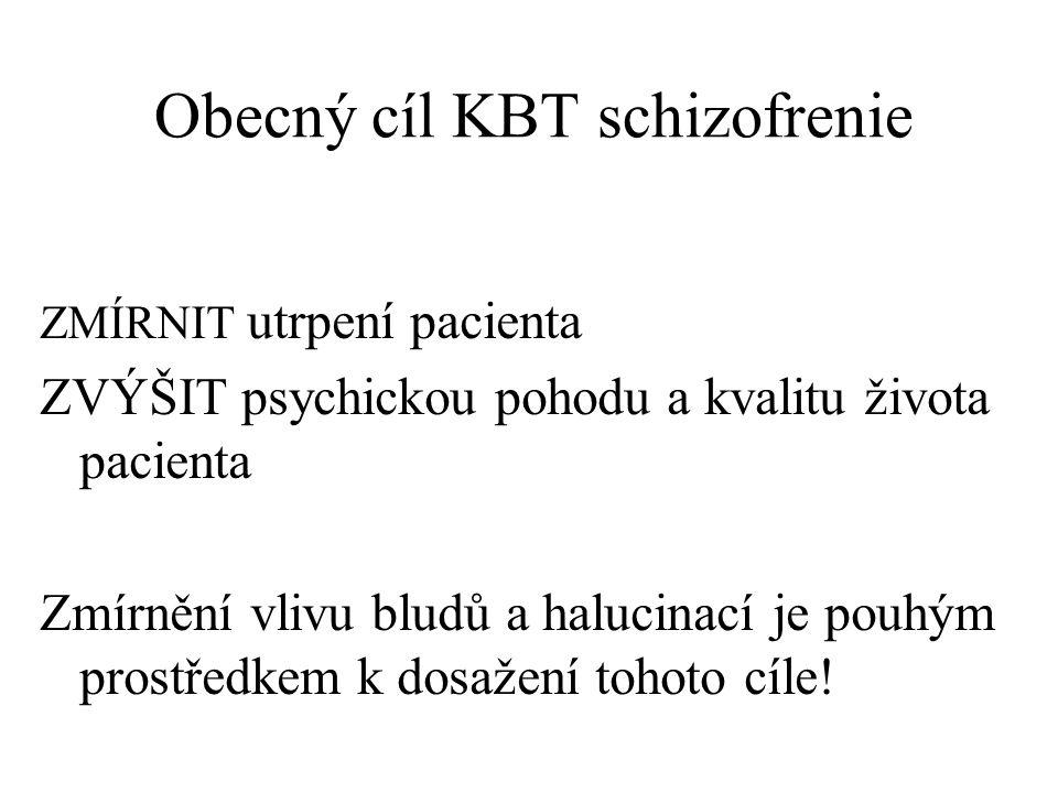Obecný cíl KBT schizofrenie