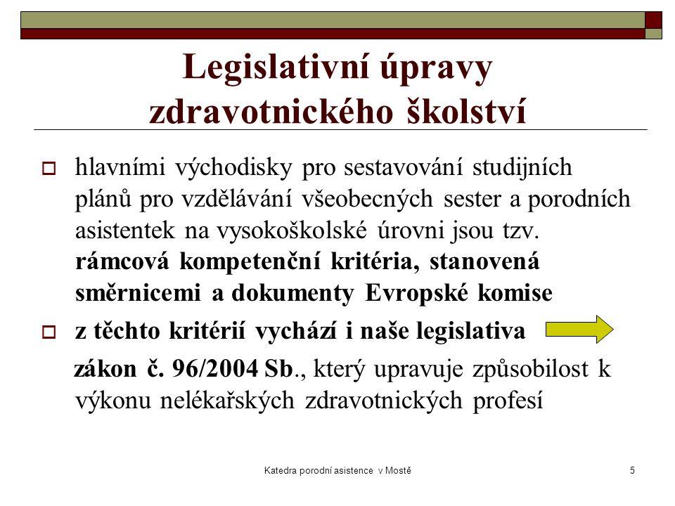 Legislativní úpravy zdravotnického školství