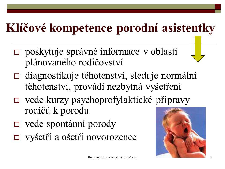 Klíčové kompetence porodní asistentky