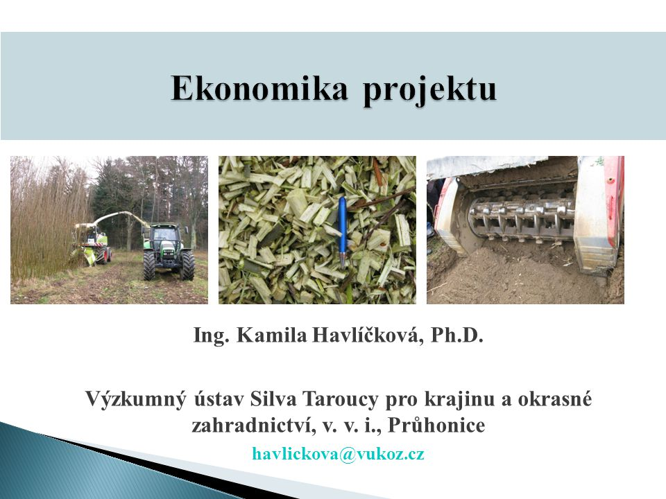 Ing. Kamila Havlíčková, Ph.D.