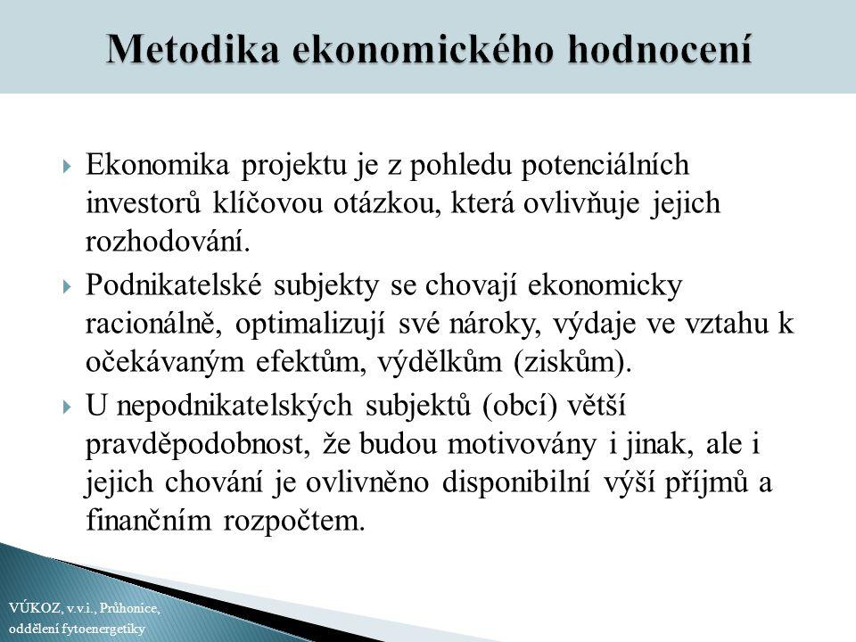 Metodika ekonomického hodnocení