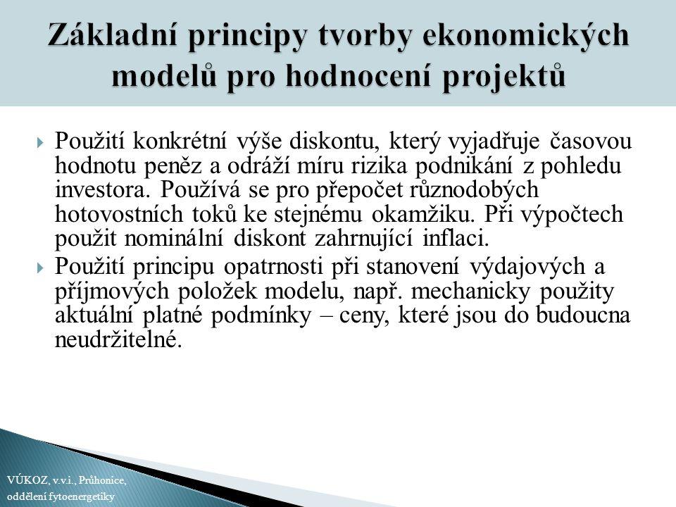 Základní principy tvorby ekonomických modelů pro hodnocení projektů