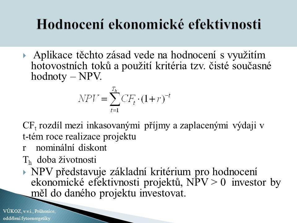 Hodnocení ekonomické efektivnosti