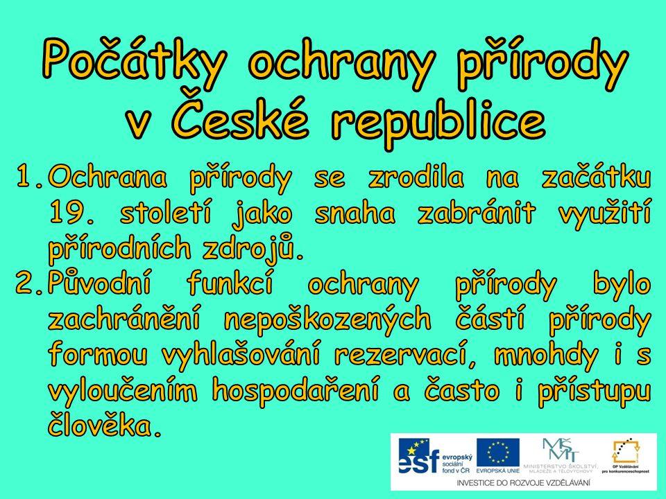 Počátky ochrany přírody v České republice