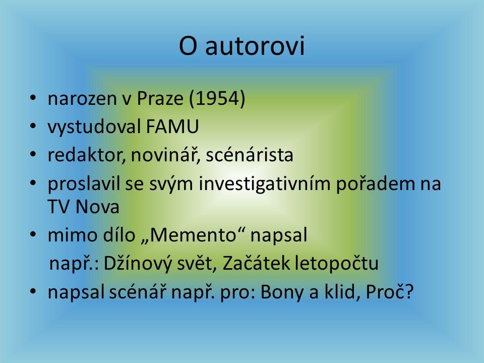 O autorovi narozen v Praze (1954) vystudoval FAMU