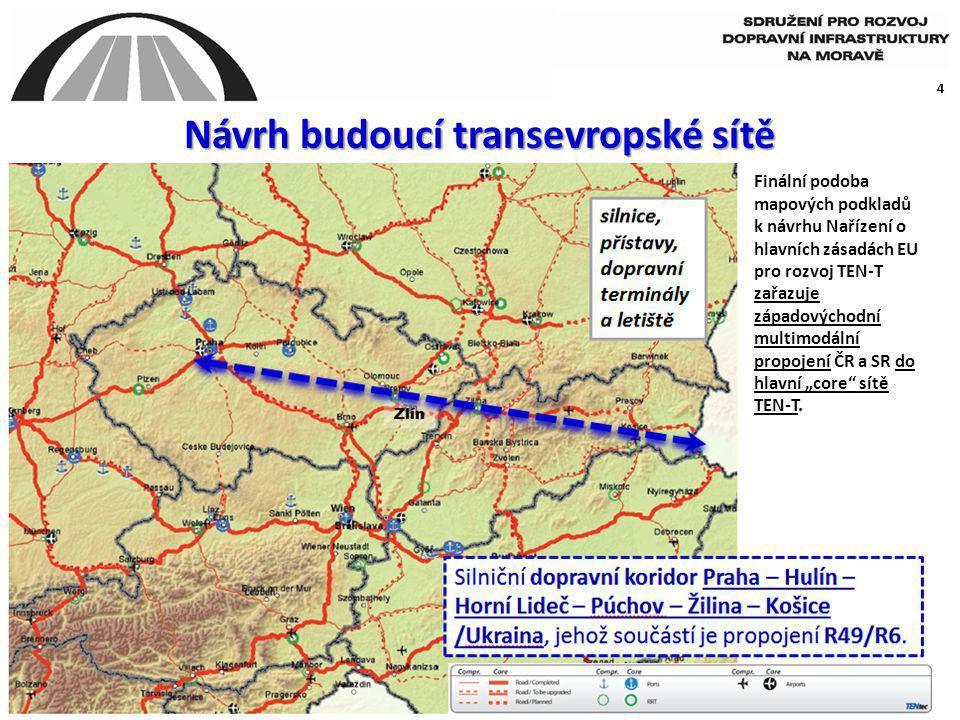 Návrh budoucí transevropské sítě