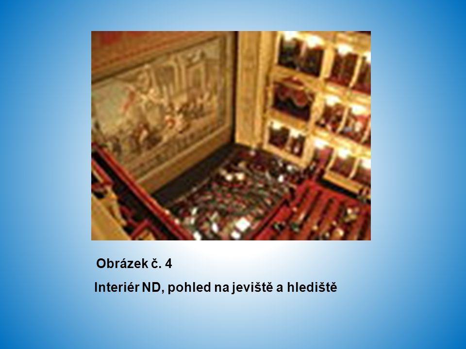 Obrázek č. 4 Interiér ND, pohled na jeviště a hlediště