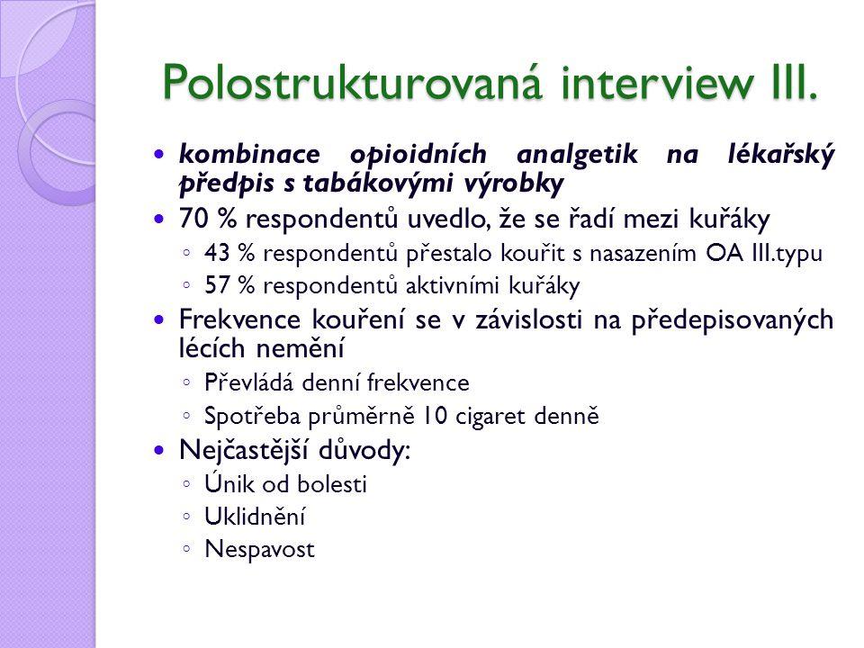 Polostrukturovaná interview III.
