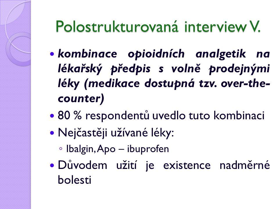 Polostrukturovaná interview V.