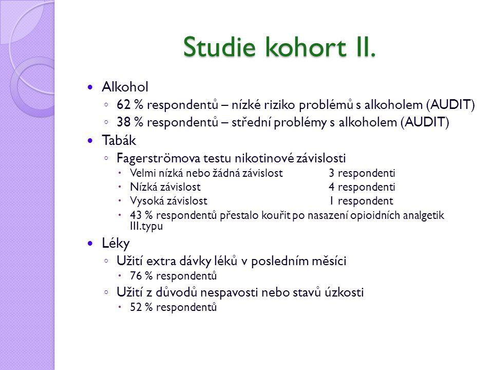 Studie kohort II. Alkohol Tabák Léky