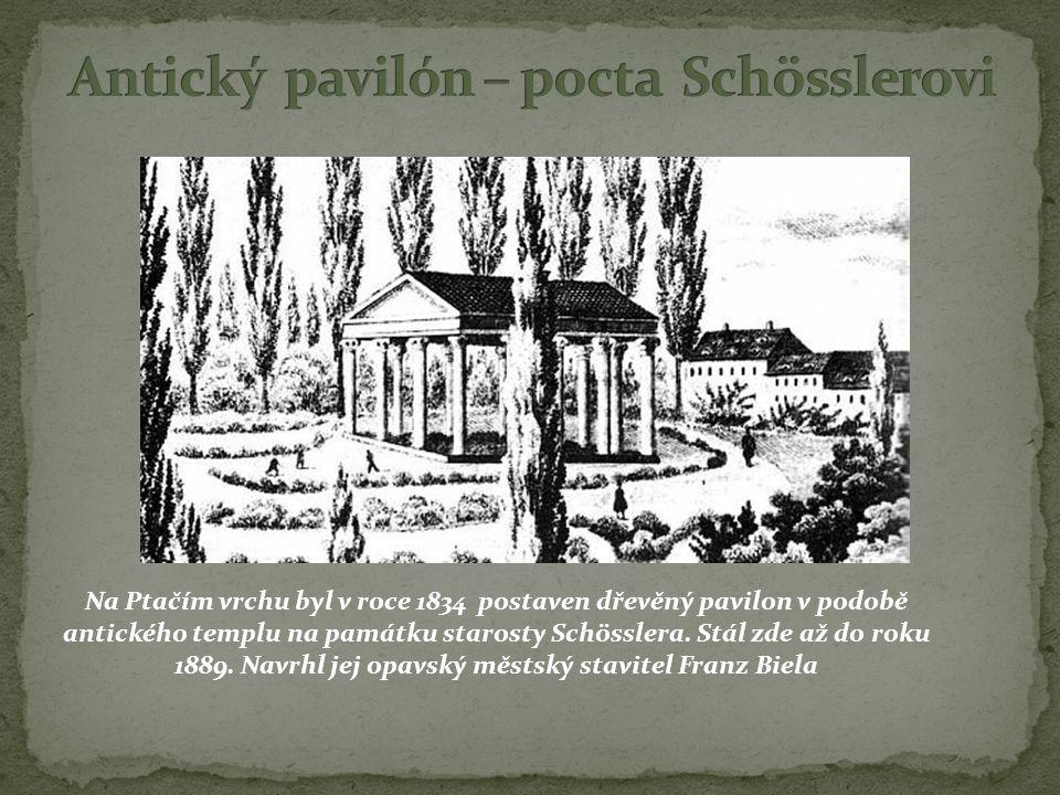 Antický pavilón – pocta Schösslerovi