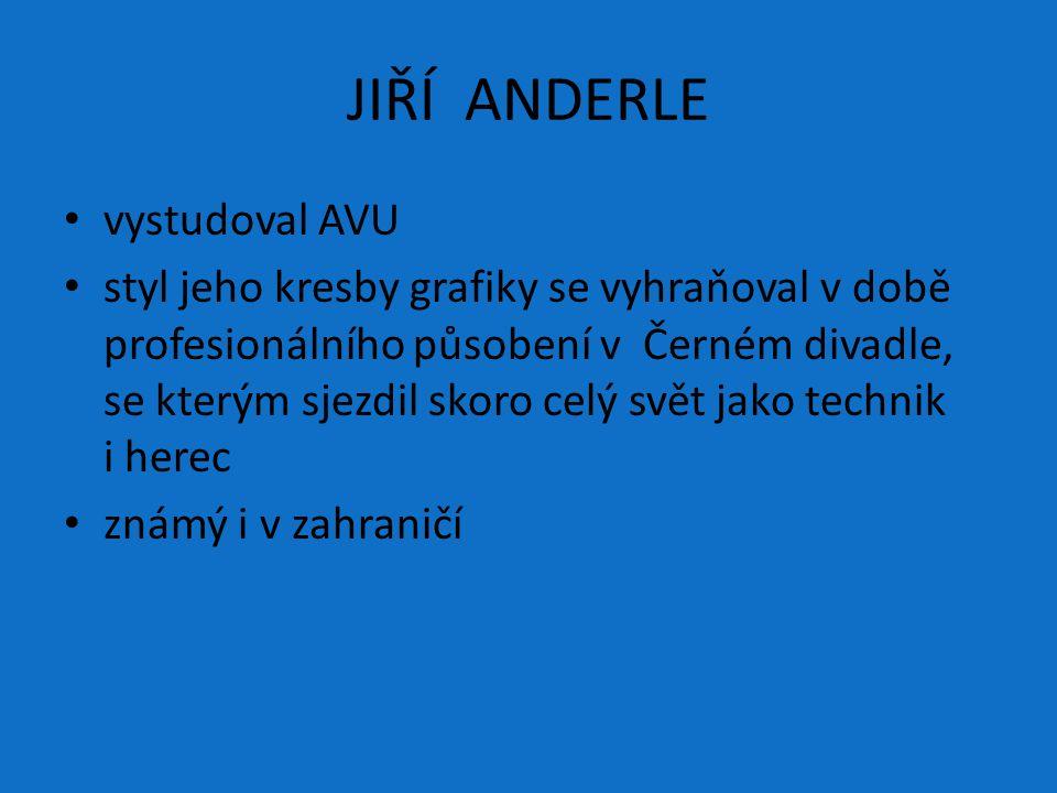 JIŘÍ ANDERLE vystudoval AVU