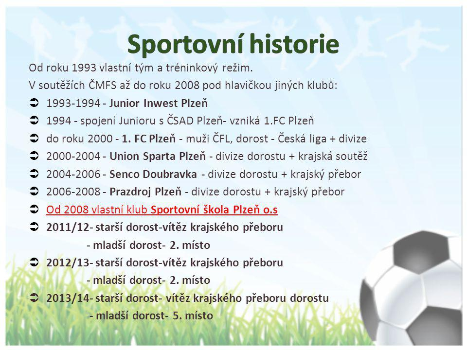 Sportovní historie Od roku 1993 vlastní tým a tréninkový režim.