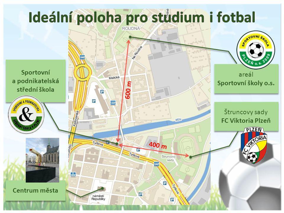 Ideální poloha pro studium i fotbal
