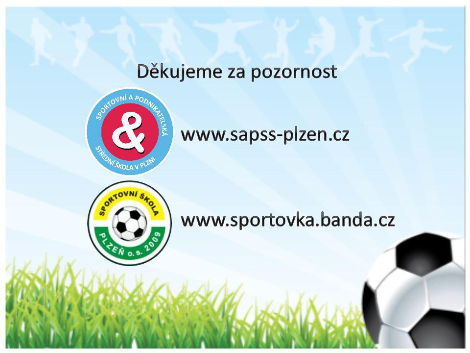 Děkujeme za pozornost www.sapss-plzen.cz www.sportovka.banda.cz