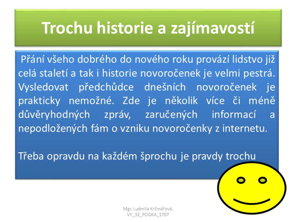 Trochu historie a zajímavostí
