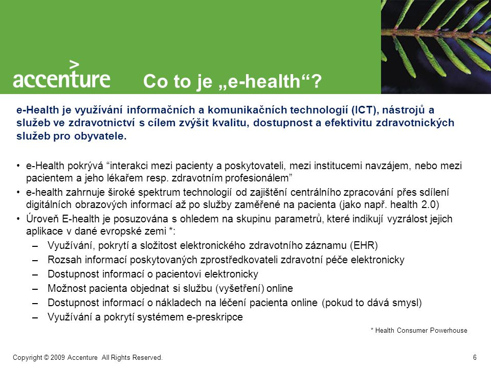 "Co to je ""e-health"