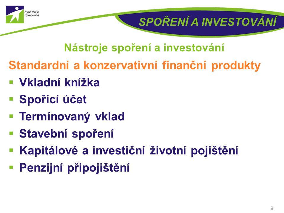 Nástroje spoření a investování