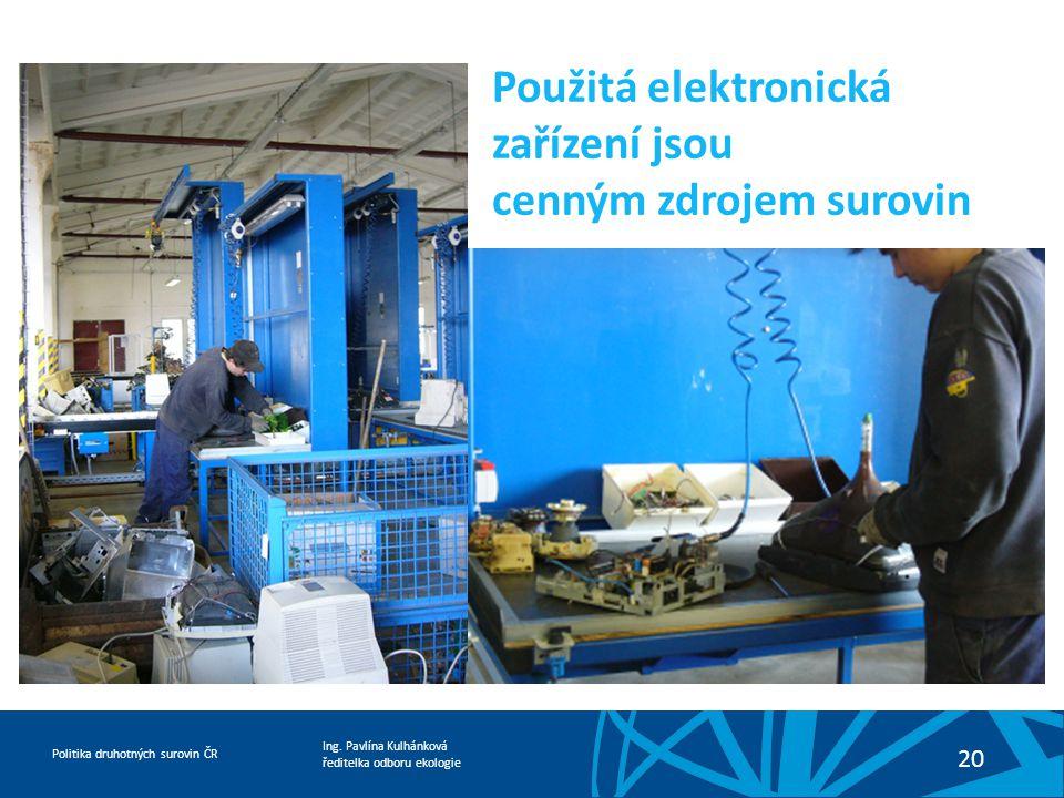 Použitá elektronická zařízení jsou cenným zdrojem surovin
