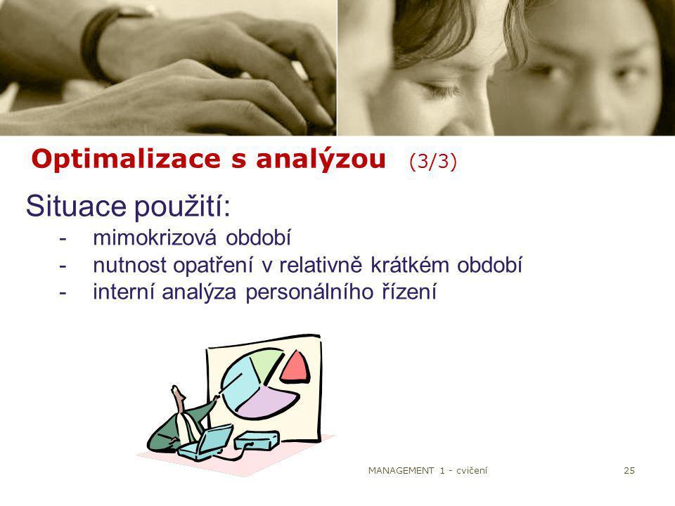 Optimalizace s analýzou (3/3)