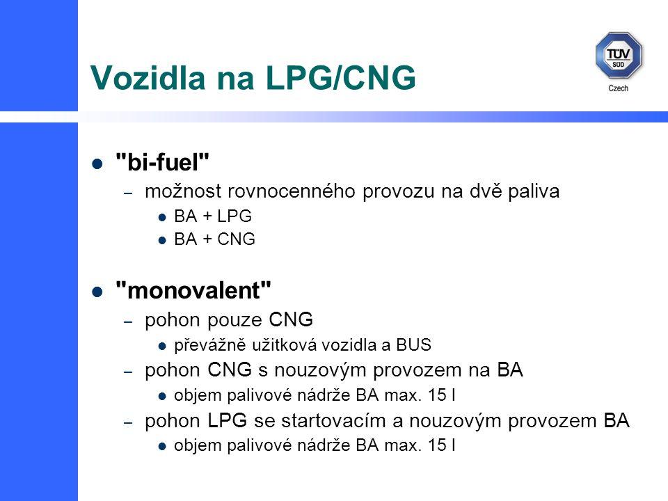 Vozidla na LPG/CNG bi-fuel monovalent