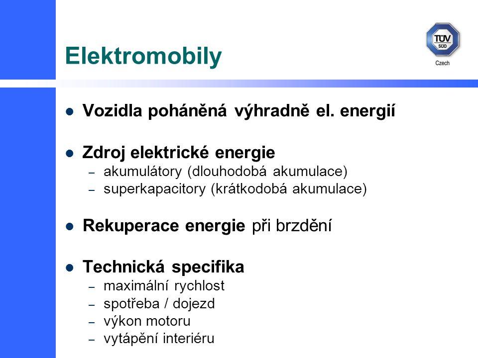 Elektromobily Vozidla poháněná výhradně el. energií