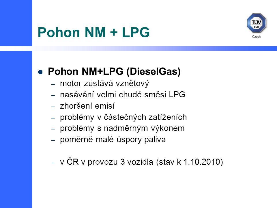 Pohon NM + LPG Pohon NM+LPG (DieselGas) motor zůstává vznětový