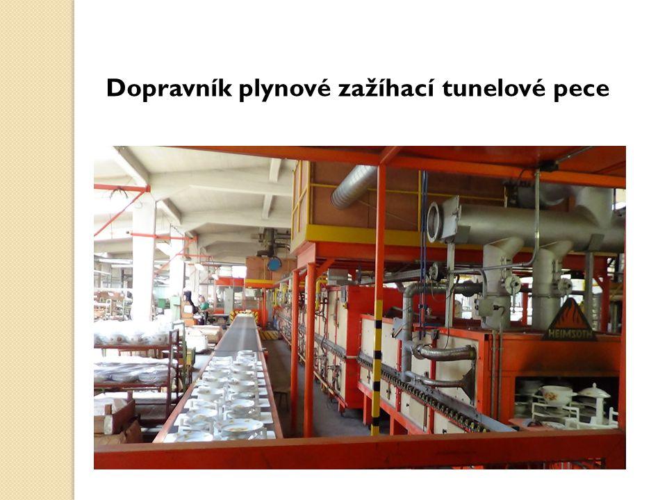 Dopravník plynové zažíhací tunelové pece