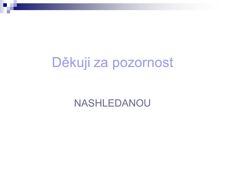 Děkuji za pozornost NASHLEDANOU
