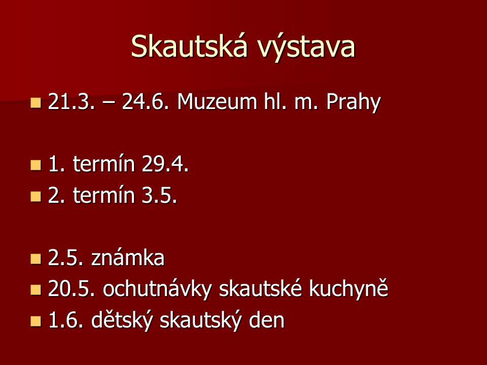Skautská výstava 21.3. – 24.6. Muzeum hl. m. Prahy 1. termín 29.4.
