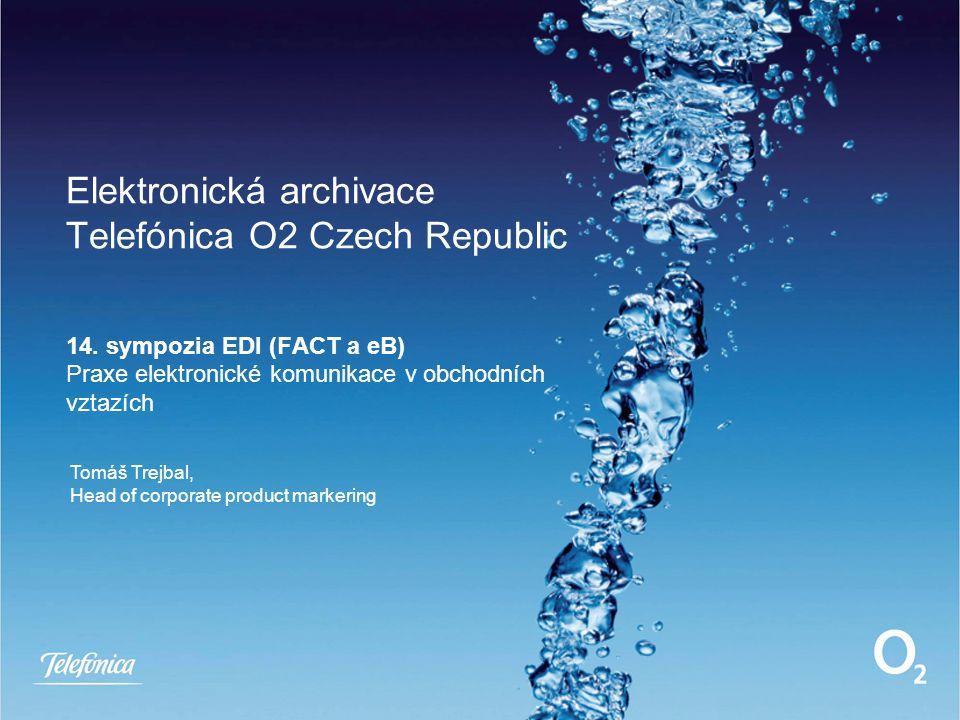 Elektronická archivace Telefónica O2 Czech Republic 14