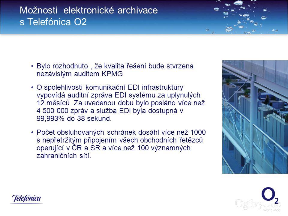 Možnosti elektronické archivace s Telefónica O2