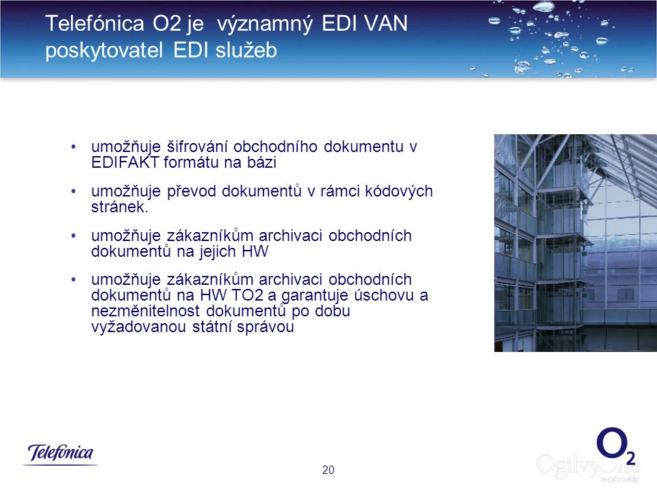 Telefónica O2 je významný EDI VAN poskytovatel EDI služeb