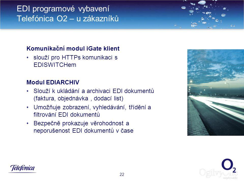 EDI programové vybavení Telefónica O2 – u zákazníků