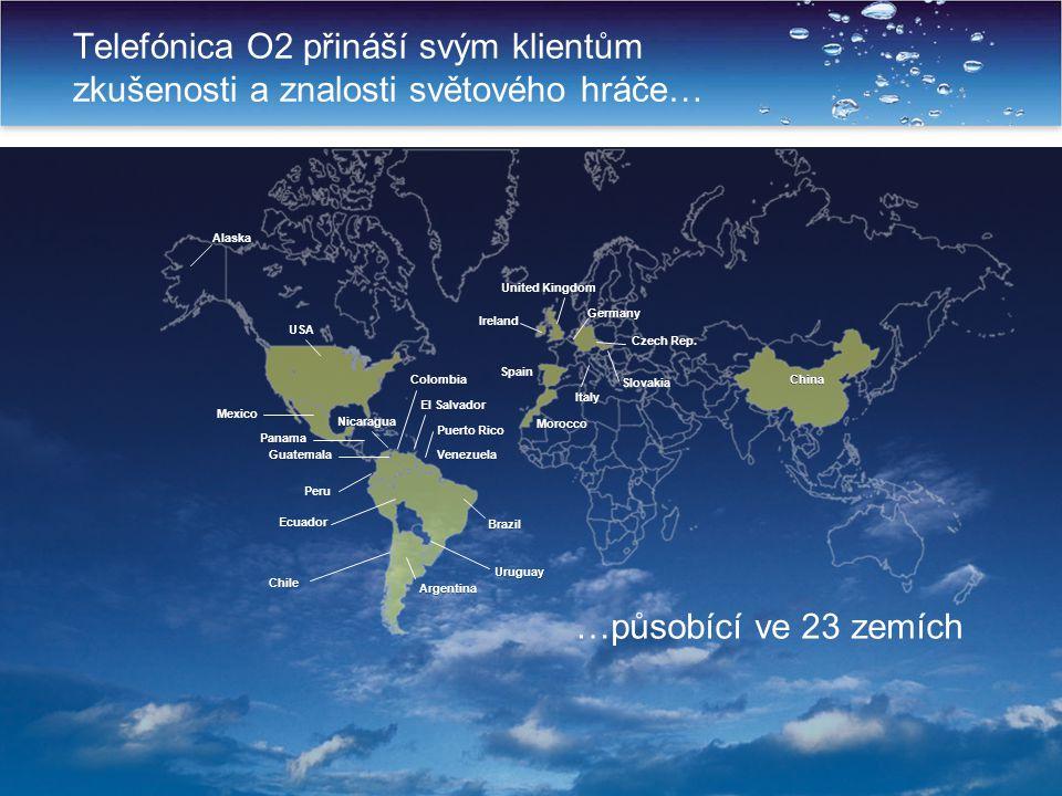 Telefónica O2 přináší svým klientům zkušenosti a znalosti světového hráče…