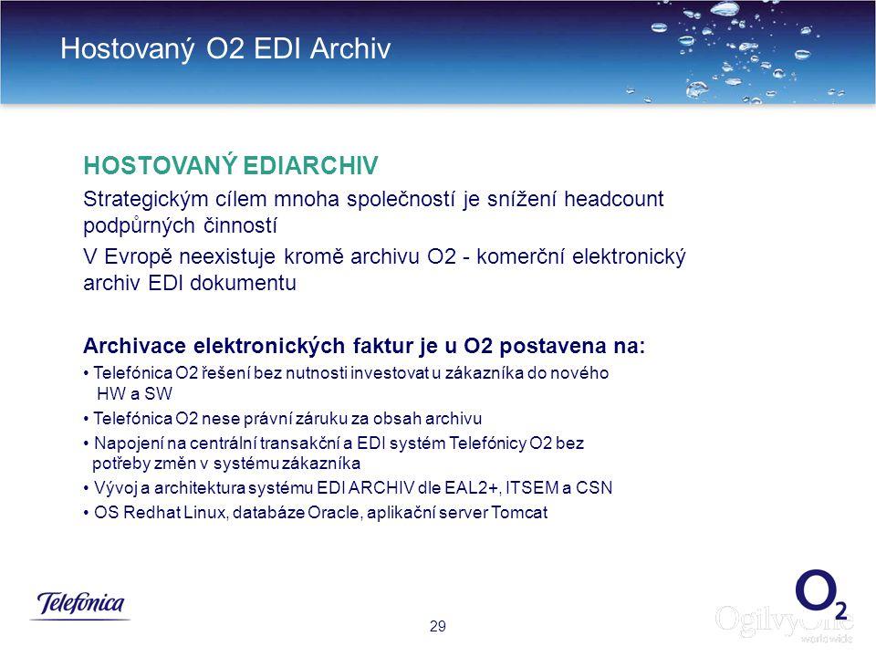 Hostovaný O2 EDI Archiv HOSTOVANÝ EDIARCHIV