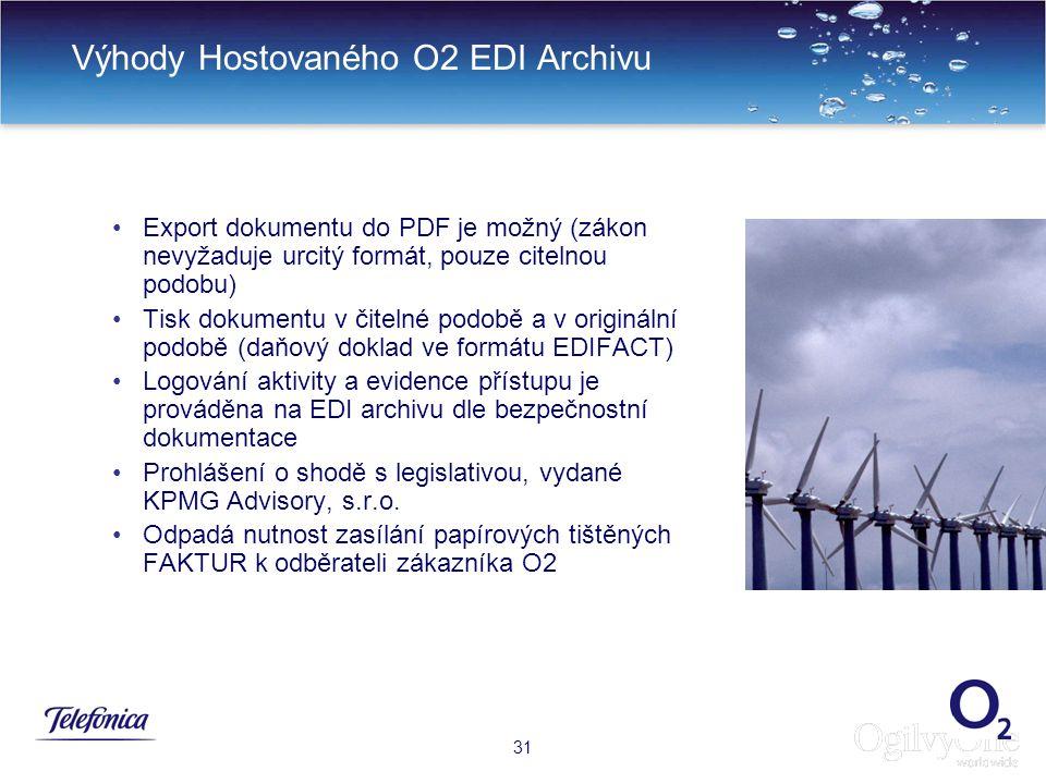 Výhody Hostovaného O2 EDI Archivu