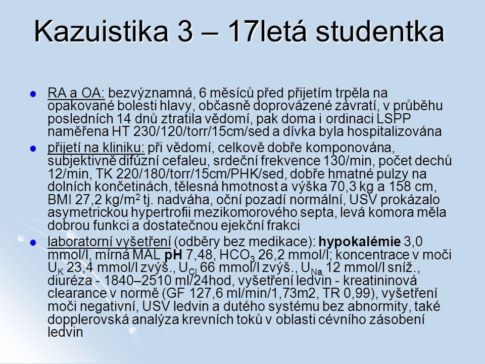 Kazuistika 3 – 17letá studentka