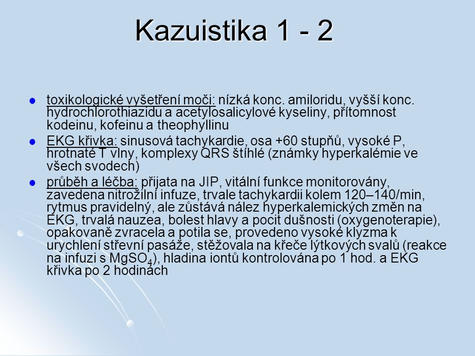 Kazuistika 1 - 2