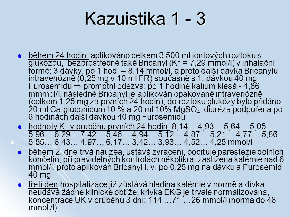 Kazuistika 1 - 3