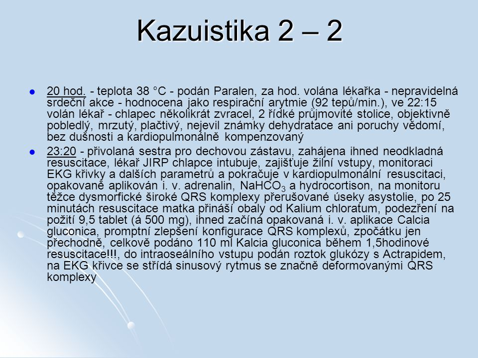 Kazuistika 2 – 2