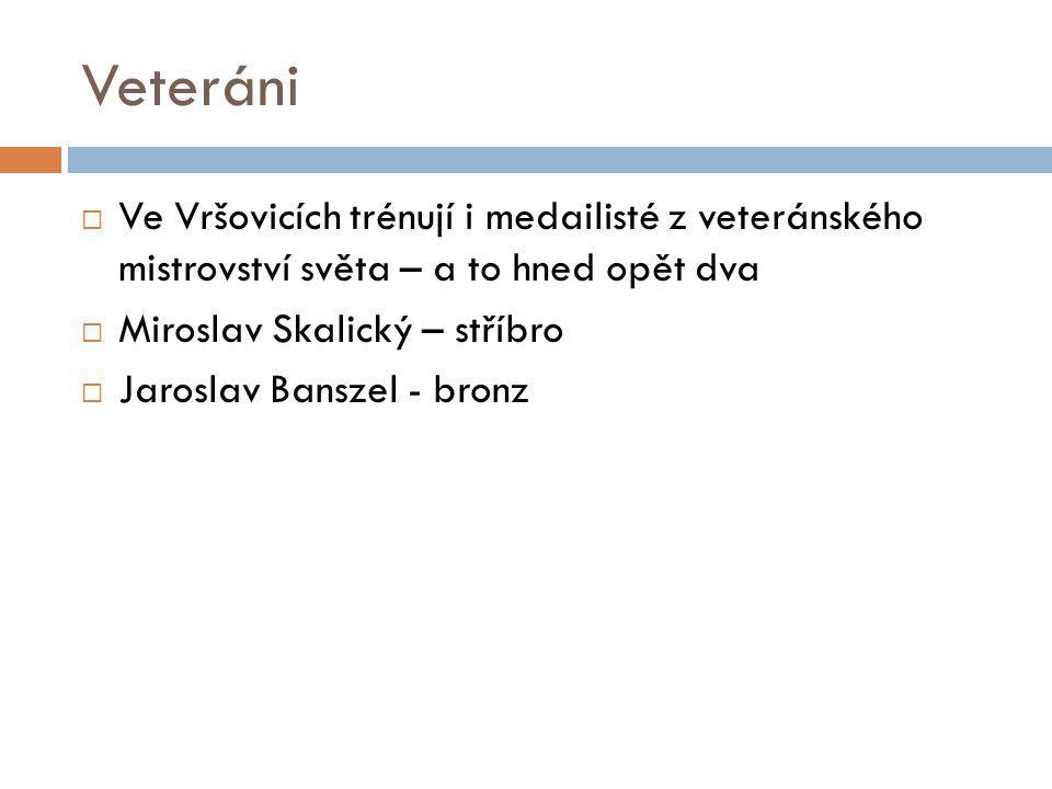 Veteráni Ve Vršovicích trénují i medailisté z veteránského mistrovství světa – a to hned opět dva.