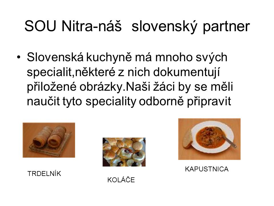 SOU Nitra-náš slovenský partner