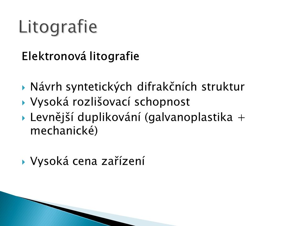 Litografie Elektronová litografie