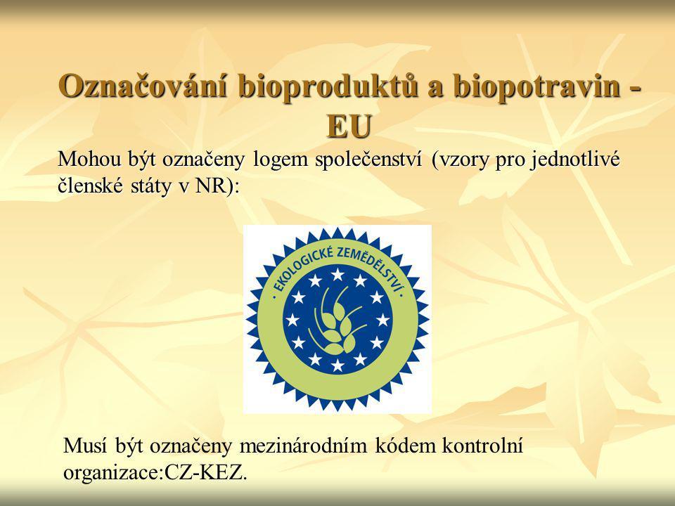 Označování bioproduktů a biopotravin -EU